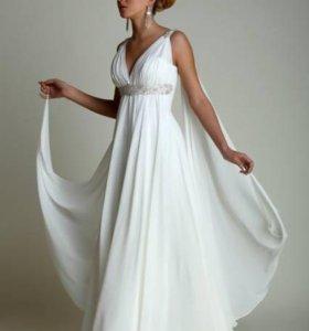 Платье белое свадебное греческое