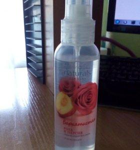 """Лосьен-спрей для тела """"бархатистая роза и персик"""""""