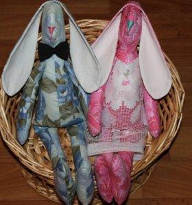 Кукла интерьерная Тильда заяц