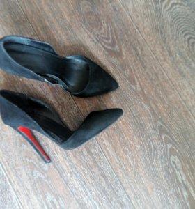 Туфли замшевые 37