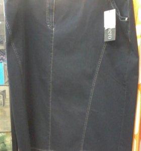 Юбка джинсовая  64 размер