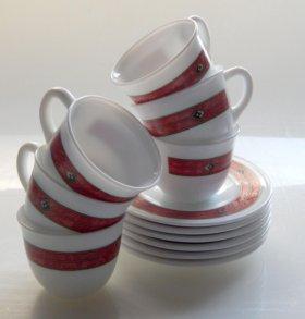 Чашки кофейные с блюдцами 6шт