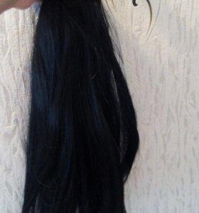 Волосы черные на прищепках
