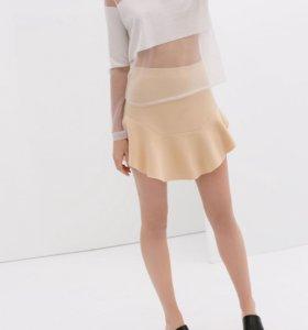 Новая юбка Zara с воланом М-L