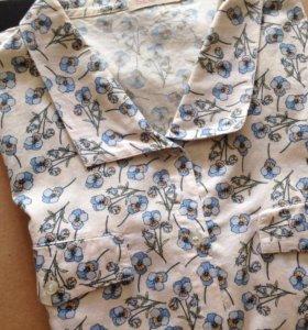 Рубашка с анютиными глазками