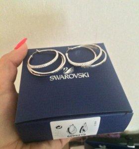 Серьги Swarowski 👑