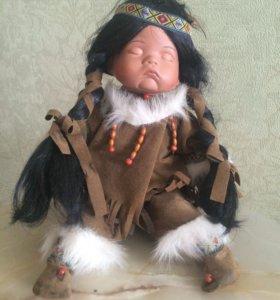 Кукла Фарфоровая Индеец