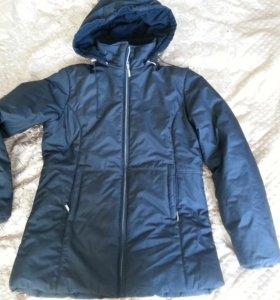 теплая зимняя куртка пуховик на 44-46+