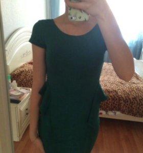 Платье с баской Zara