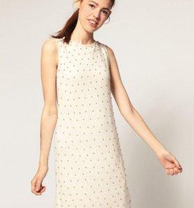 Вязаное платье ASOS с бусинами