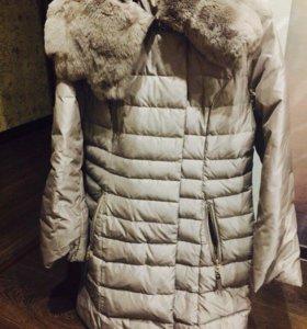 Тёплая зимняя куртка с натуральном мехом