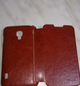 Чехол для телефона Lg P715 кожаный