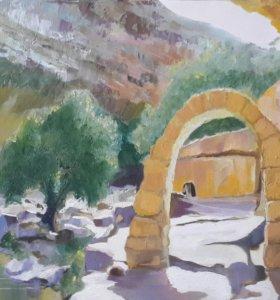 Картина маслом. Иордания. 2013г.