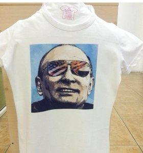 Футболка с Путиным печать на заказ