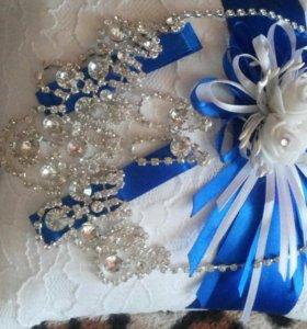 Подушечка для колец,свадебное украшение