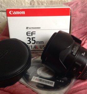Canon 35mm f1.4 USM L