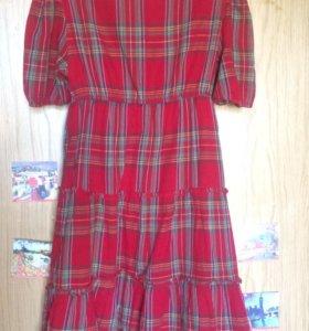 Zara. Платье в шотландскую клетку