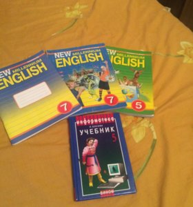 Учебники английского языка и информатики.