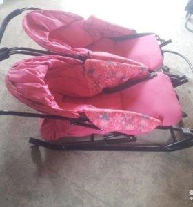 Санки коляска для двойни