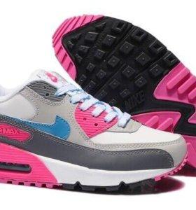Кроссовки Nike air max 90 розовые (35-45)