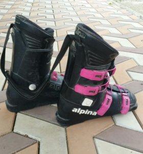 Горные лыжи  +ботинки