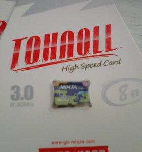 Карты памяти 8 ГБ. (Micro SD)