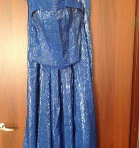 Платье вечернее синее
