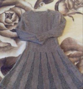 Теплое мягкое платье