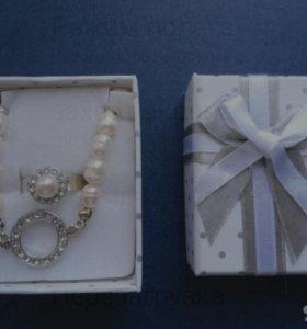 Подарочный набор (колье+кольцо)