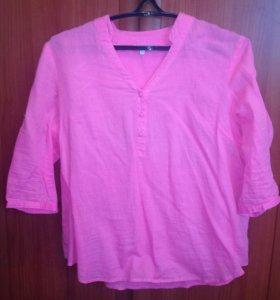 Нежно-розовая рубашка