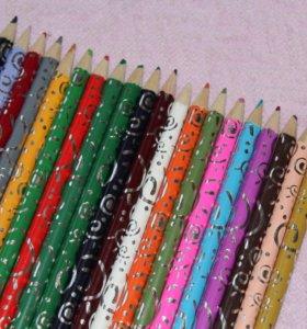 Карандаши цветные 20 штук