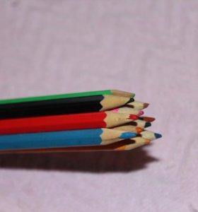 Карандаши цветные 11 штук