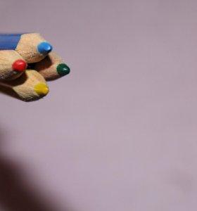 Цветные карандаши 4 шт