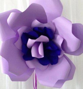 Цветы из бумаги, любой цвет и размер. Декоратор.