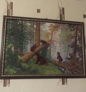 Картины вышитые крестиком.