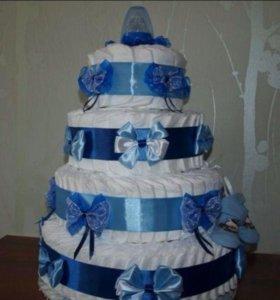 Тортики из памперсов!!!
