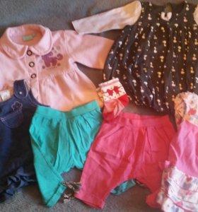 Детские вещи для девочки пакетом