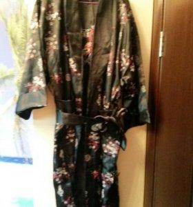 Тайский халат атлас одежда