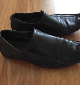 Мужские кожаные туфли (школьные) 39р-р