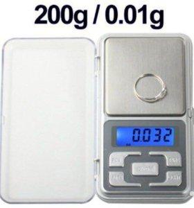Точные весы цифровые 200г/0.01г