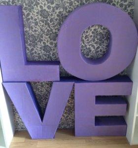 4 объемные  буквы для фотосессии или свадьбы.