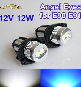 BMW ангельские глазки лампы светодиодные