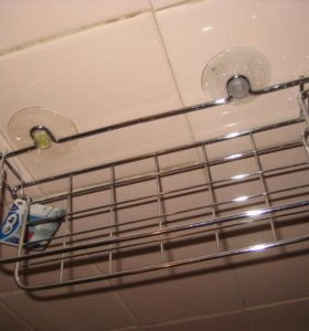Полочка для ванной хромированная одноярусная