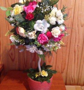 Композиции из цветов; топиарий
