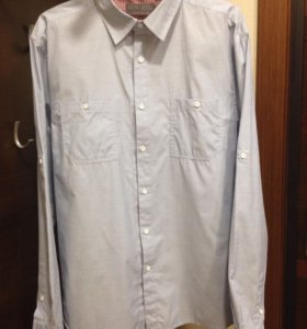 Рубашка светло-голубая, размер 52