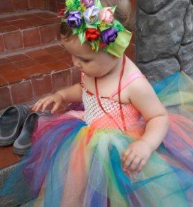 Платье и повязка ручной работы