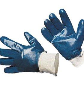 Перчатки х/б с нитриловым покрытием эласт-й манжет