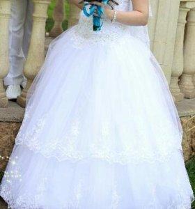 Свадебное платье+ Подарочек)!