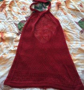 Платье-туника вязаная