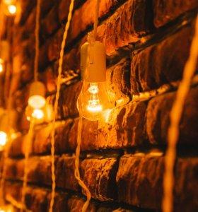 Ретро-гирлянда 40 ламп, 25 метров